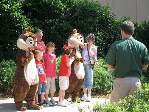 Chip and Dale meet and greet