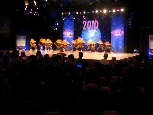 USASF dance competition in Epcot's World Showplace