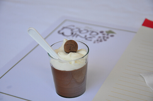 Chocolate pudding at the California Food and Wine Festival