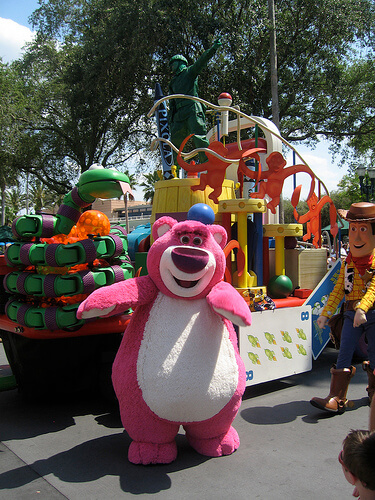 Lotso dancing during Block Party Bash