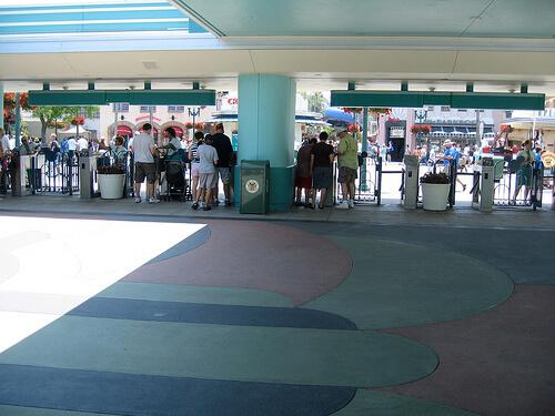 Empty entrance to Disney's Hollywood Studios