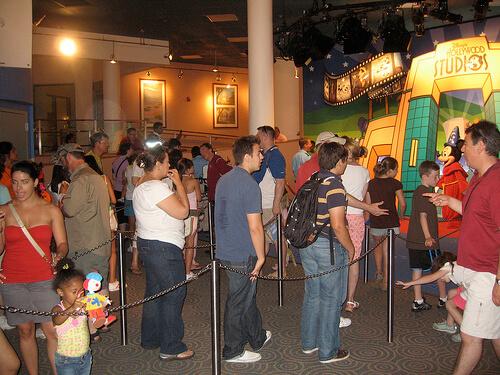 Long line to meet Mickey