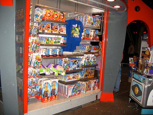 Toy Story 3 merchandise at Magic Kingdom
