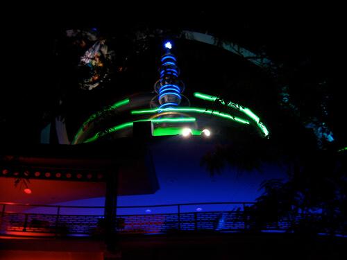 Astro Orbiter at night