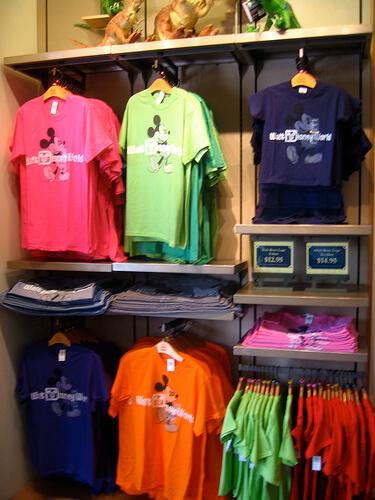 Colorful Walt Disney World shirts