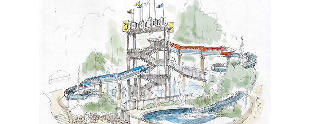 Disneyland Hotel pool to receive monorail-themed water slides