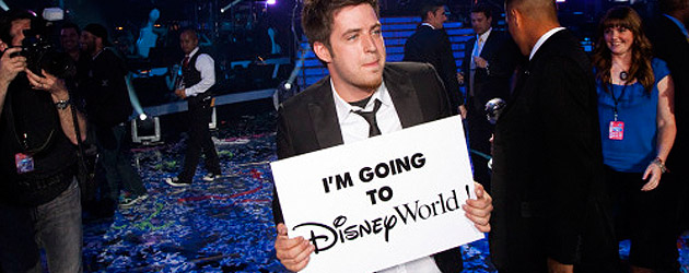 "American Idol winner Lee DeWyze is ""going to Disney World"""