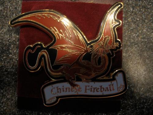 Chinese Fireball Dragon Pin $10.95