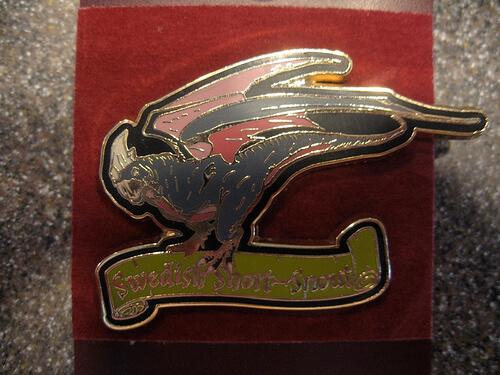 Swedish Short Snout Dragon Pin $9.95