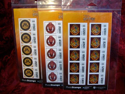 Hogwarts/Owl Postage 10 Stamp sets $12.95/each