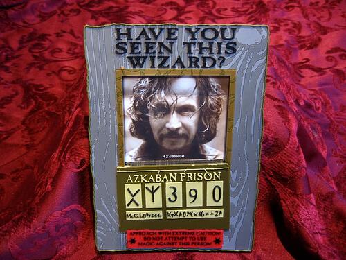 Sirius Black picture frame $12.95