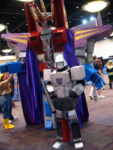 Transformers Starscream and Megatron costumes