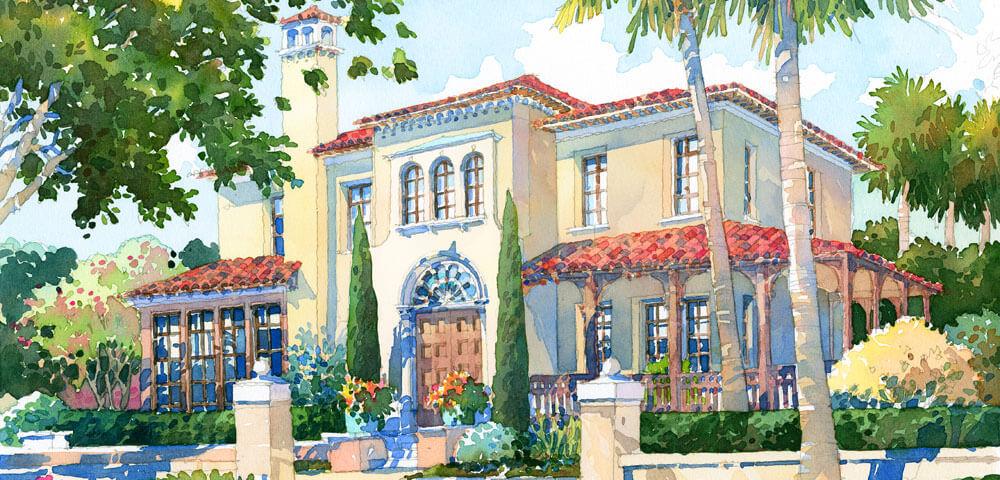 Spanish revival 1000x480 inside the magic for Spanish revival home plans