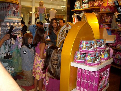 Magic mirror in the Disney Store in Montebello, California
