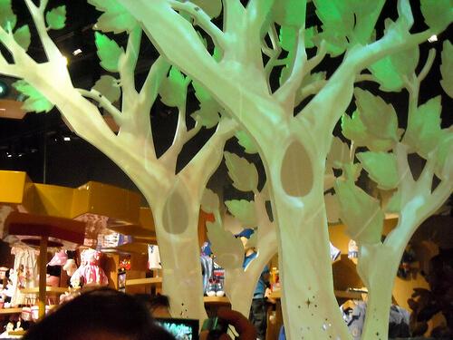 Tree in the Disney Store in Montebello, California