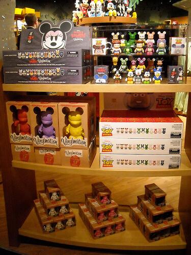 Vinylmation in the Disney Store in Montebello, California