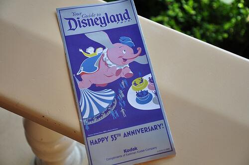 Disneyland 55th Birthday celebration park maps