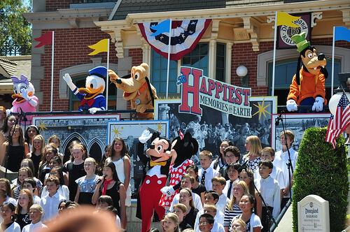 Disneyland 55th Birthday celebration choir