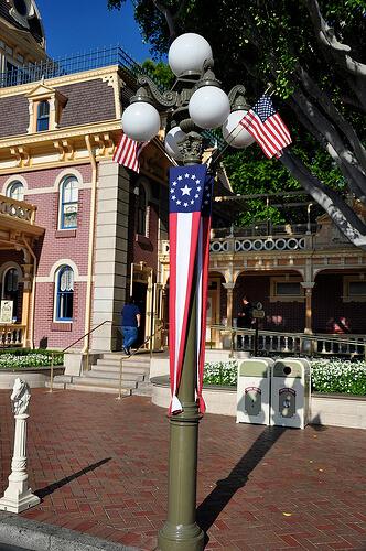 Disneyland 55th Birthday celebration decorations
