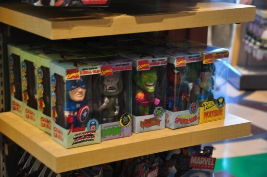 Marvel and Star Wars merch