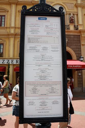 Via Napoli Ristorante e Pizzeria menu