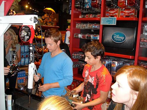Disney/Pixar Cars Ridemakerz with Hannah Montana stars Moises Arias and Jason Earles