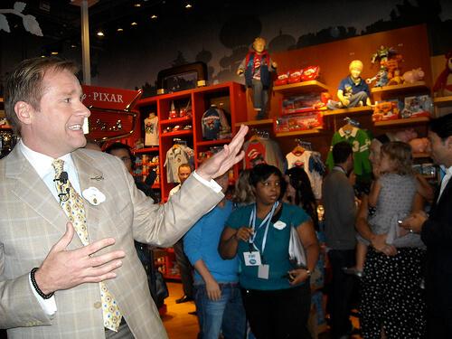 Disney Store president Jim Fielding