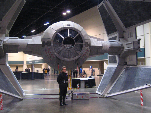 TIE Fighter with Imperial Officer