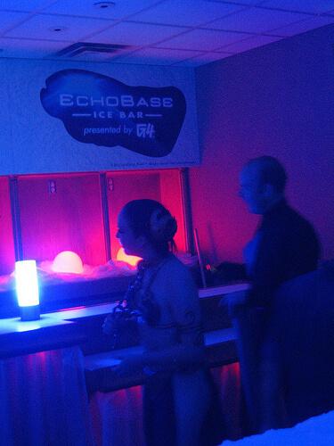 Slave Leia in Echo Base Hoth ice bar