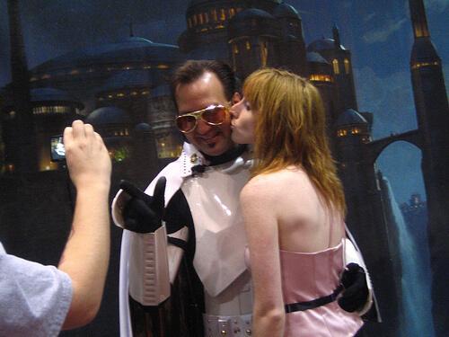 Elvis Trooper gets a kiss