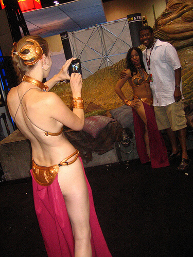 Slave Leia gets behind the camera for another Slave Leia
