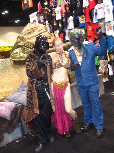 Pimpin' Boba Fett and Darth Vader with Slave Leia