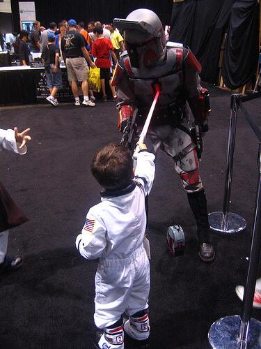 Kid stabs bounty hunter