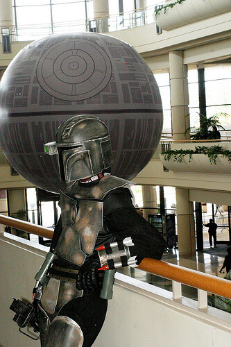 Mandelorian with the Death Star