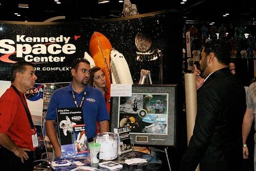 Jay Laga'aia at NASA booth