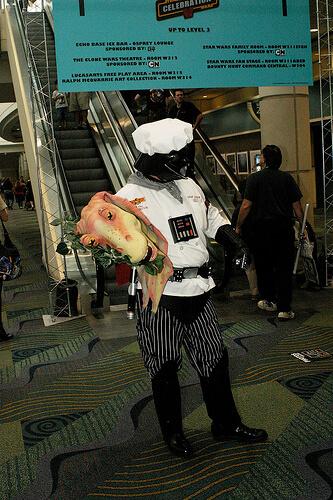 Chef Vader serves up Jar Jar
