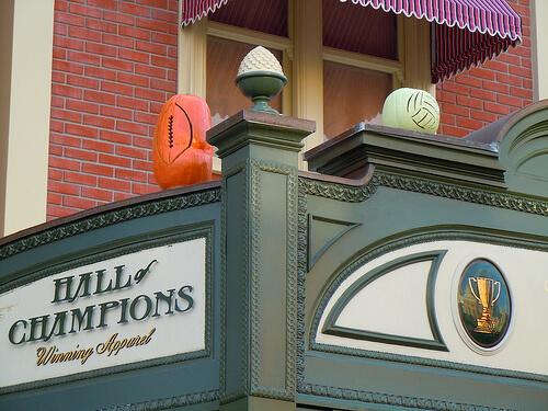 Hall of Champions sports Jack-O-Lanterns