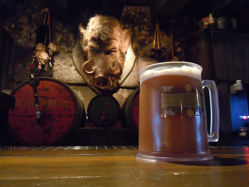 Frozen Butterbeer at the Hog's Head Pub