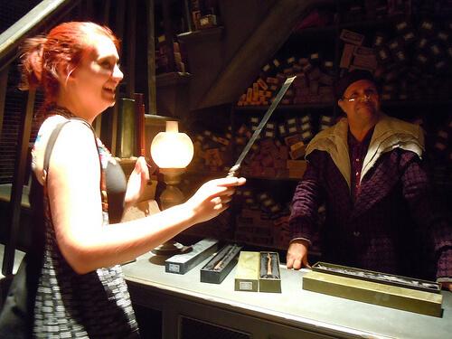 She was chosen in Ollivander's Wand Shop