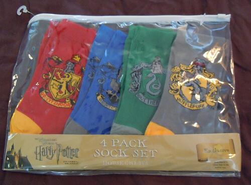 Hogwarts house 4-pack sock set - $24.95