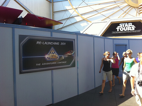 Star Tours: The Adventures Continue re-launching 2011