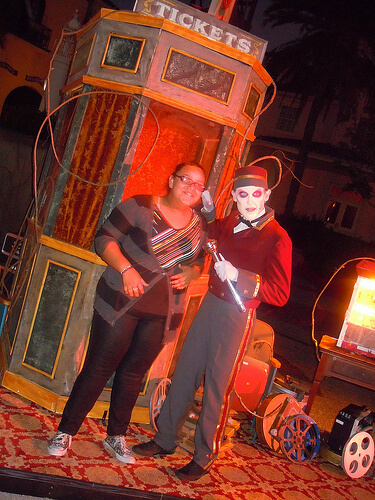 The Usher in HHN: 20 Years of Fear scare zone