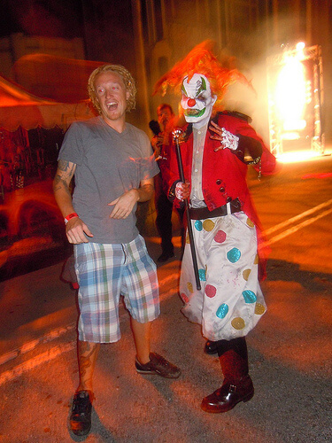 Jack the Clown in HHN: 20 Years of Fear scare zone