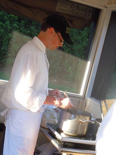 Charcuterie & Cheese - Chef making fondue