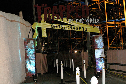 Trapped in the Walls - Ghostchasers haunted house entrance