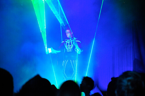 Laserman at ElecTRONica