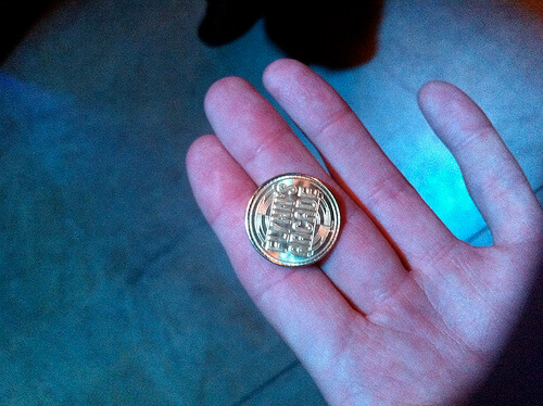Flynn's Arcade token