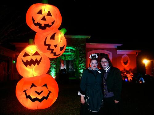 Ricky's house on Halloween