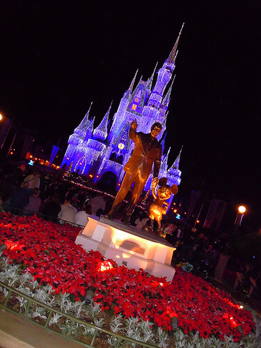 Cinderella Castle Christmas time