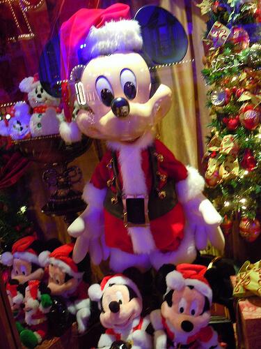 Mickey Mouse Main Street window